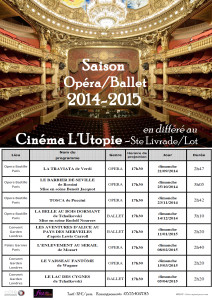 affiches opera ballet  2014 2015