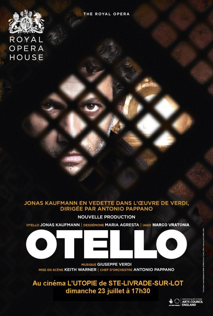 opéra au cinéma le 23 juillet : Otello